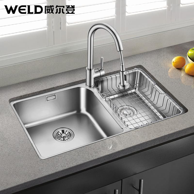R Corner Sink Small Stainless Steel Dual Slot Vegetables Basin Kitchen Washing Dishes One Es603 304 In Sinks From Home Improvement On
