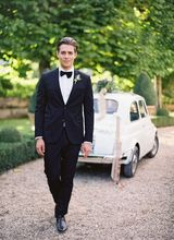 Traje De Novio New Arrival Men s Custom Made 2 Pieces Black Tuxedos Best Man Wedding
