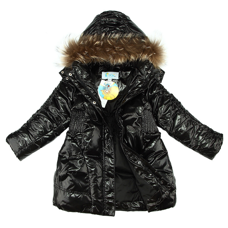 Russian Winter Snowsuits 2017 Baby Girl White Duck Down Jacket Children Girls Outerwear Coat