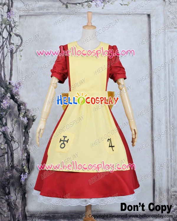 Red Yellow Dress Alice Madness Returns Alice Cosplay Costume H008