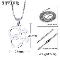 New Beauty Classic Metal Beads Women Mens Accessories Fashion Jewelry Pendants Necklaces Stainless Steel Chain Bohemian