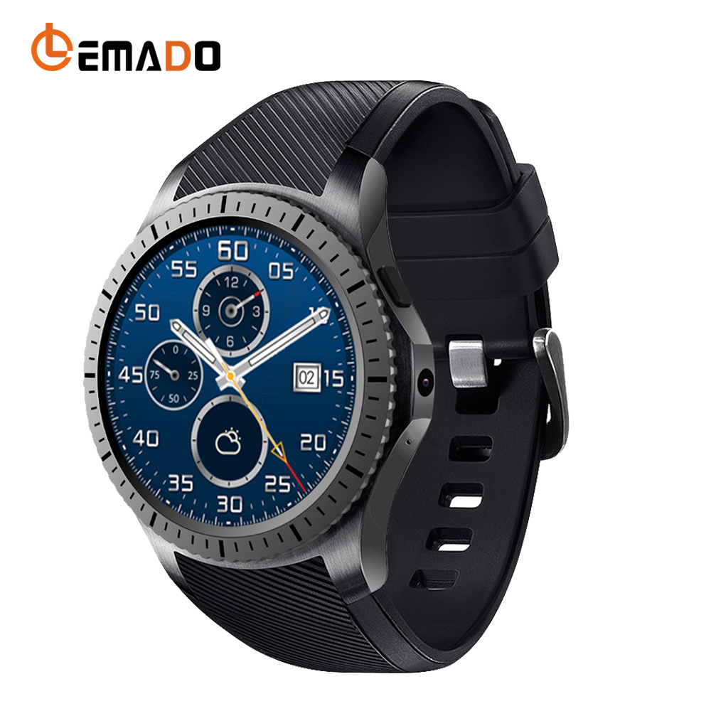 Lemado GW11 Mens Smartwatch Heart Rate pedometer Tracker Wristwatch 1.3 inch Round Screen Relogio Smart Watch For Android IOS