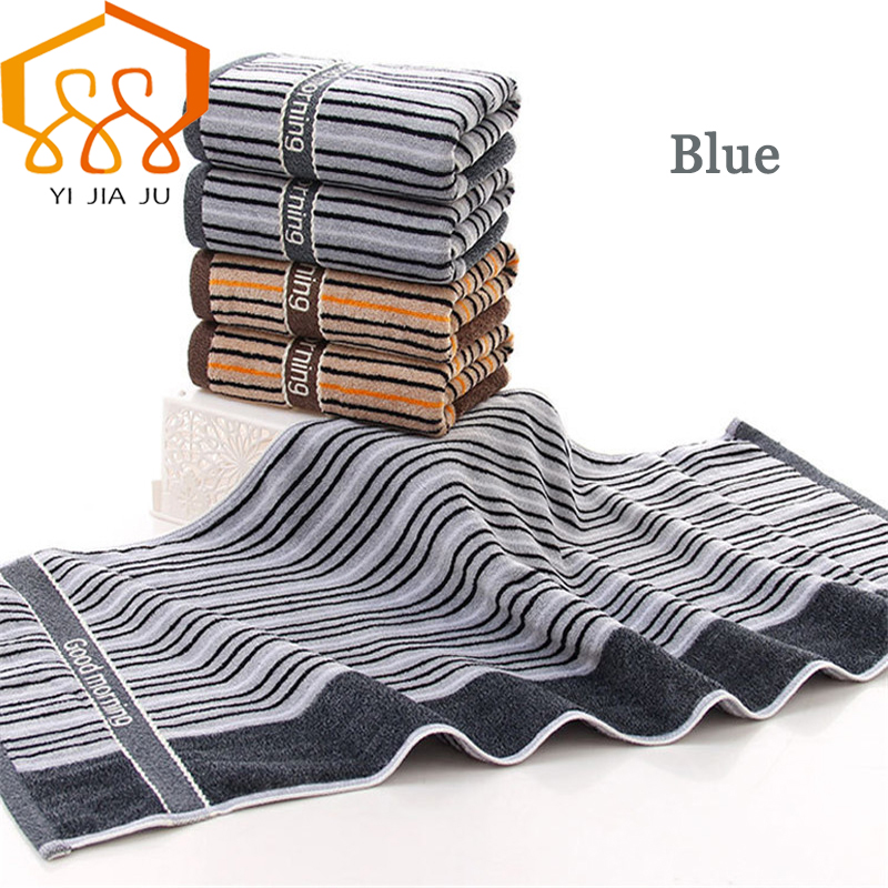 1pcs 100% Cotton Bath Beach Towel  34cm*75cm Comfortable Soft Cotton Striped Man Face Wash Towel
