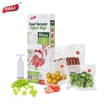 Kitchen Vacuum Bag for Food with Pump Vacuum Sealer Bags Plastic Zip Bag Keep Food Fresh/ Reusable / BPA Free