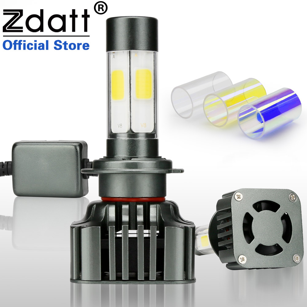 Zdatt H7 Led Canbus Lamp Bulb Auto 12000LM 100W Headlights Car Led Light 360 Degree Lighting 3000K 6000K 8000K 12V Automobiles