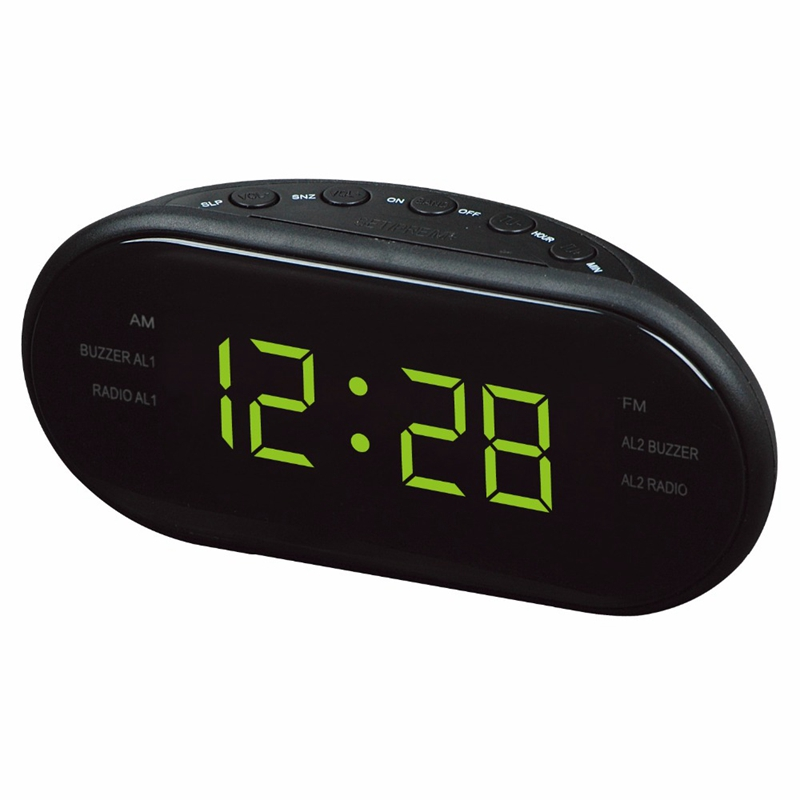 Modern Alarm AM FM Double Channel LED Alarm Clock Light Function Digital Frequency Display Snooze Sleep ModeGroup Gift Radio