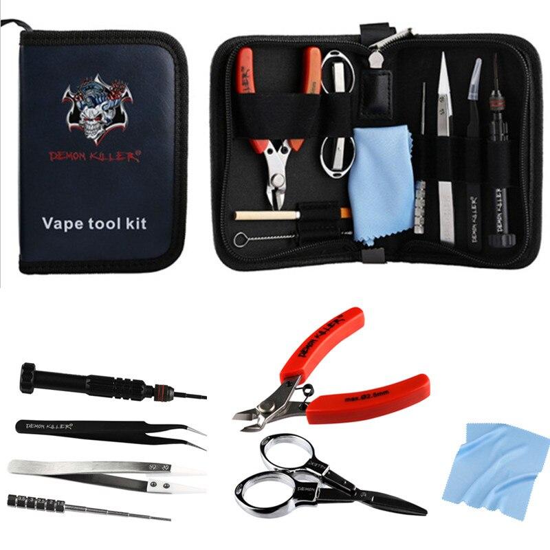 Démon tueur Vape bricolage sac à outils kit pince à épiler pinces fil chauffages Kit E Cigarette accessoire adapté pour bricolage RDA RBA RDTA RDA réservoir