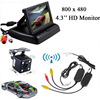 Wireless Video Transmitter And Receiver 4 LED Car Rearview Backup Camera 4 3 Parking Camera Mirror