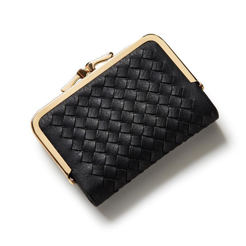 Fashion Weave Wallet Women Small Purse Brand Short Ladies Wallet Female Multifunction Women Purse With Card