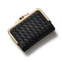 Fashion Weave Wallet Women Small Purse Brand Short Ladies Wallet Female Multifunction Women Purse With Card