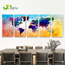 World Map Canvas Painting Wall Modular Picture For Living Room Classical Europe Type Watercolor decoration Print Unframed PR1240