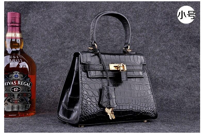 100 Crocodile Skin Belly Women font b Handbag b font Shoulder Bag Genuine Crocodile Leather Messenger