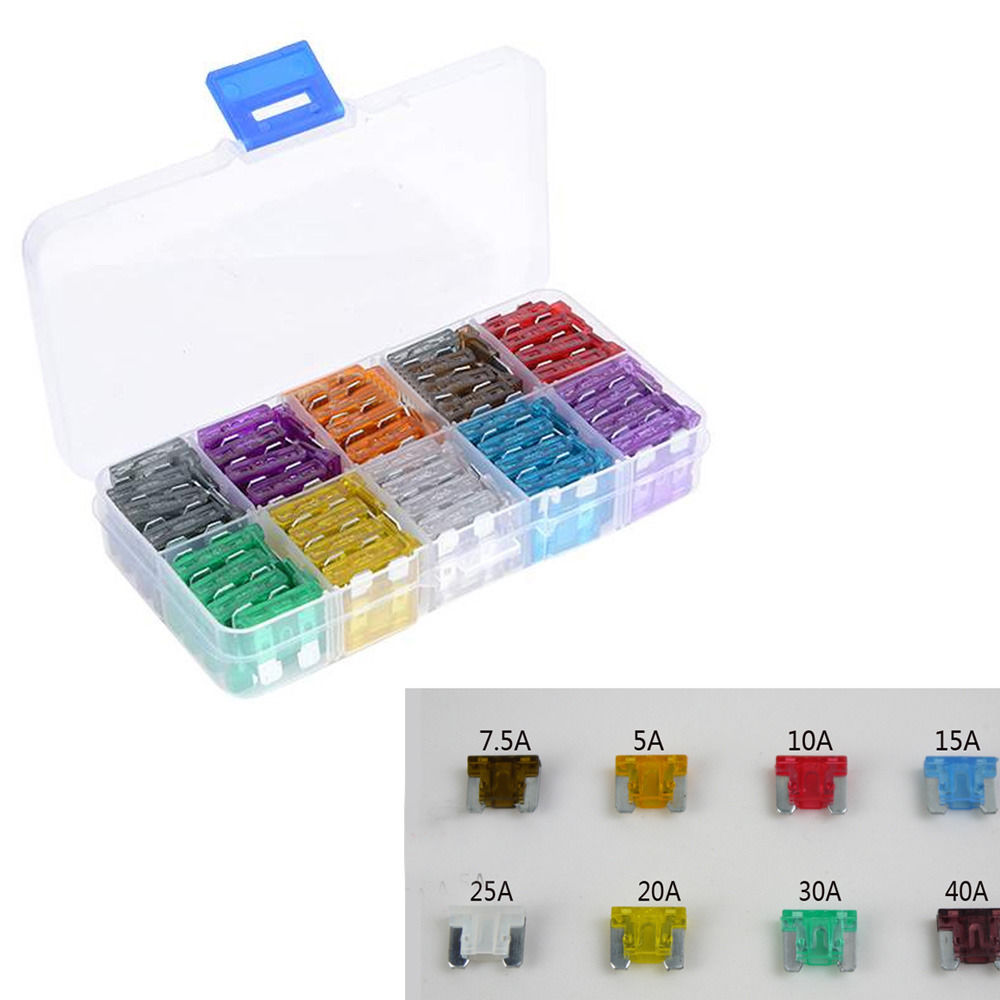 EE support Lot100 Assorted Car Auto Mini Low Profile Fuse Box <font><b>5</b></font> 7.<font><b>5</b></font> <font><b>10</b></font> 15 20 25 30 A DIY image