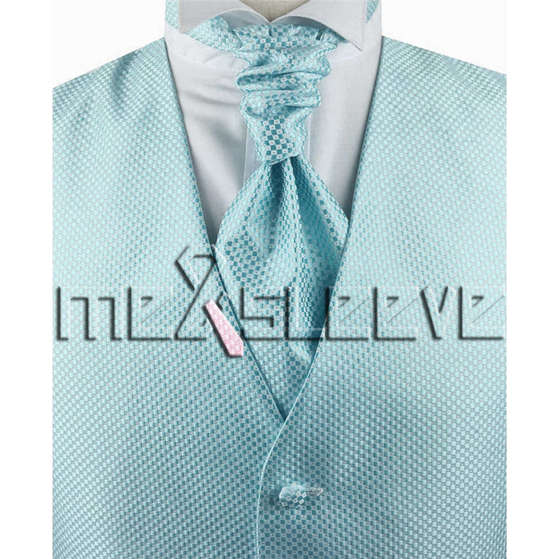 hot sale free shipping small check pool vintage style tuxedo(vest+ascot tie+cufflinks+handkerchief)