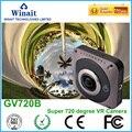 2016 Novo 360 Câmera De Vídeo Wi-fi 1280*1042 28fps 360x220 graus 360D GVT VR Câmeras de Vídeo Mini Cam Esportes de Ação Mini