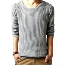 Free shipping pullover sweater male o-neck sweater spring long sleeved turtleneck sweater knitted men 3 colors SIZE:M-XXL