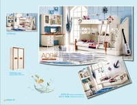 Детские двухъярусные кровати Literas Продвижение Специальное предложение дерево детский сад мебель детская с лестницы детские спальные гарни