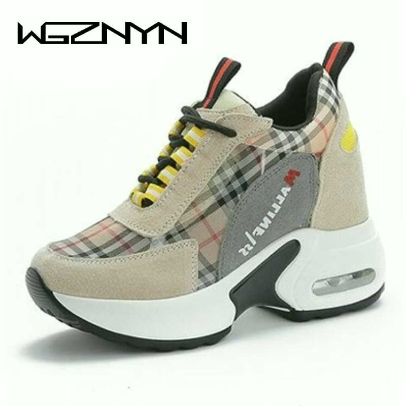 Women Shoes 2019 New Chunky Sneakers For Women Vulcanize Shoes Casual Fashion Dad Shoes Platform Sneakers Basket Femme W55