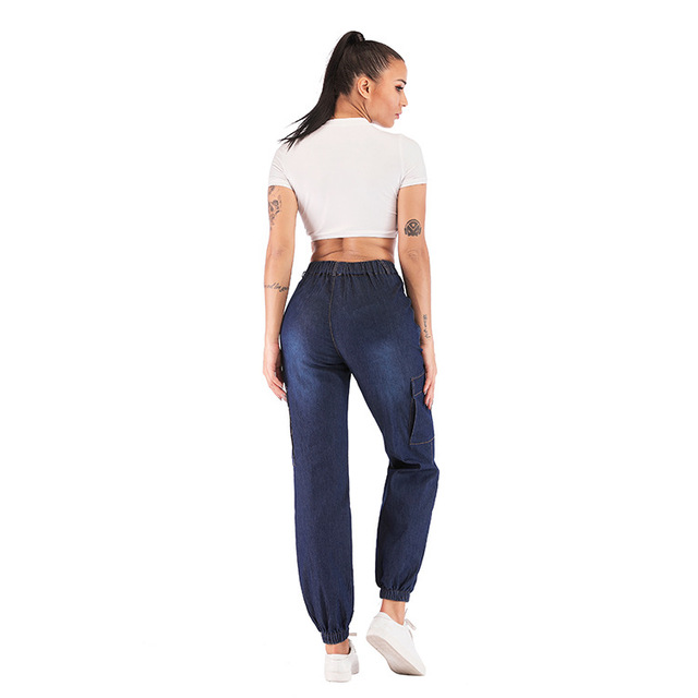 2019 High Waist Jeans Thin Style Mom Jeans Woman Summer Autumn Denim Cargo Pants Women Trousers Plus Big Large Size 5XL 4XL 3XL
