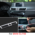 For BMW X1 F48 2016 2017 Car Control Panel Outlet Frame Stickers Sequins Internal Decoration Auto Accessories Car-styling