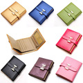 2016 New Top Brand H Buckle Genuine Leather Wallet Ladies Short Paragraph Stone Pattern Leather wallet Photo Holders Wallet