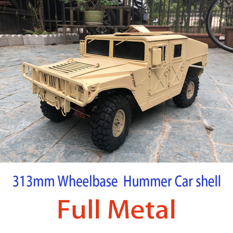 New High Quality Full Metal Hummer 1/10 Scale 313mm Wheelbase  RC Car Body Kit Hummer Car shell for 1:10 Axial SCX10 D90New High Quality Full Metal Hummer 1/10 Scale 313mm Wheelbase  RC Car Body Kit Hummer Car shell for 1:10 Axial SCX10 D90