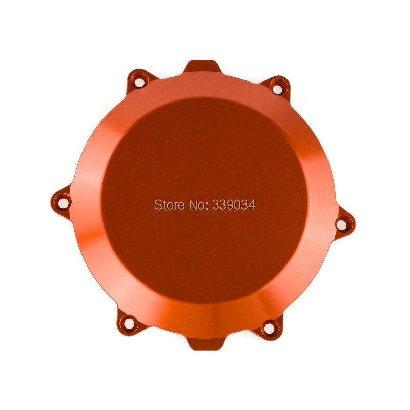 Billet Engine Outside Clutch Cover For KTM 450 SMR 2008 2009 2010 2011 2012 Orange car rear trunk security shield cargo cover for jeep compass 2007 2008 2009 2010 2011 high qualit auto accessories
