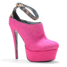 Pink Ankle-Wrap Buckle-Strap Platform With Thick Soles Summer Woman Thin High Cover Heels Pumps Purpl Made To Order Strong Shoes
