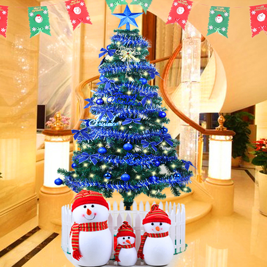 2016 Hot Sale 1.5M Blue Christmas Tree Deluxe Package