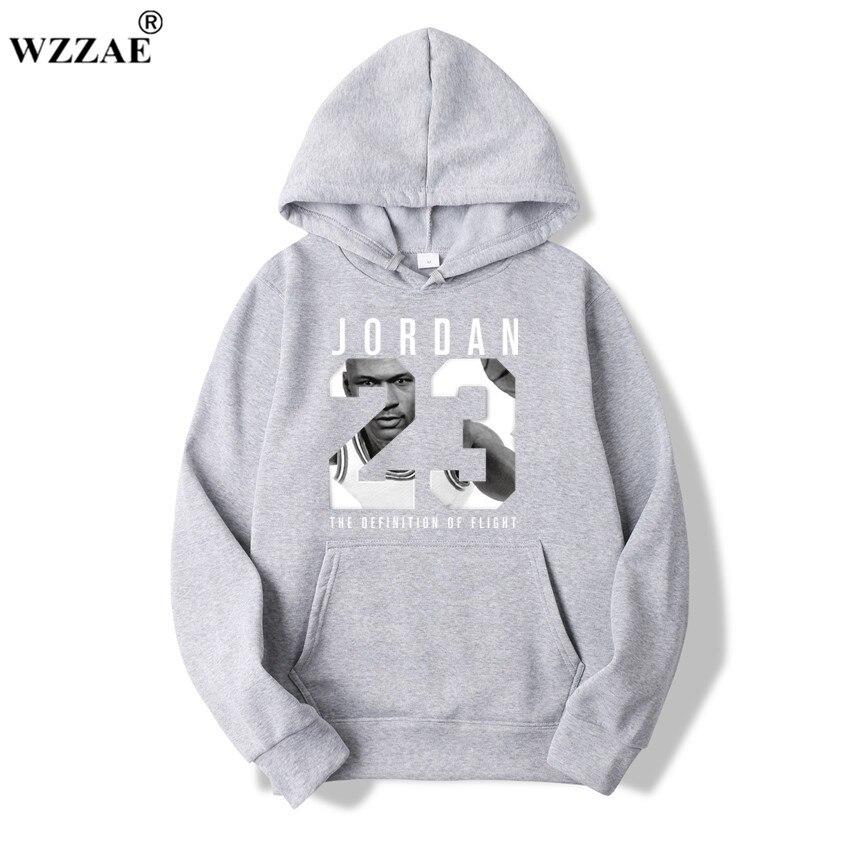 WZZAE 2019 Brand  New Fashion JORDA 23 Men Sportswear Print Men Hoodies Pullover Hip Hop Mens tracksuit Sweatshirts Clothing 2