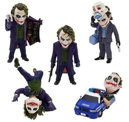 NEW hot 5cm Q version 5pcs/set Justice league batman Joker action figure toys Christmas gift doll no box