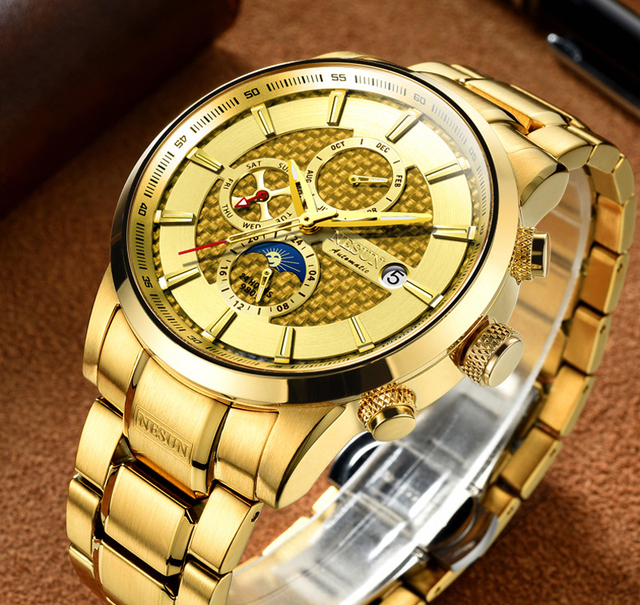 NESUN Luxury Brand Swiss Watch Multifunctional Display Automatic Self-Winding 2