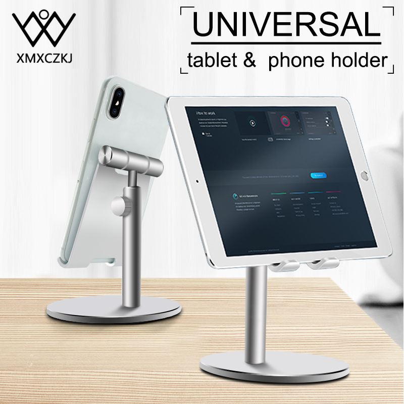 XMXCZKJ Mobile Phone Holder For iPhone X Max iPad Non slip Adjustable Metal Desktop Phone Stand For Samsung Xiaomi Huawei Tablet|Phone Holders & Stands| |  - title=