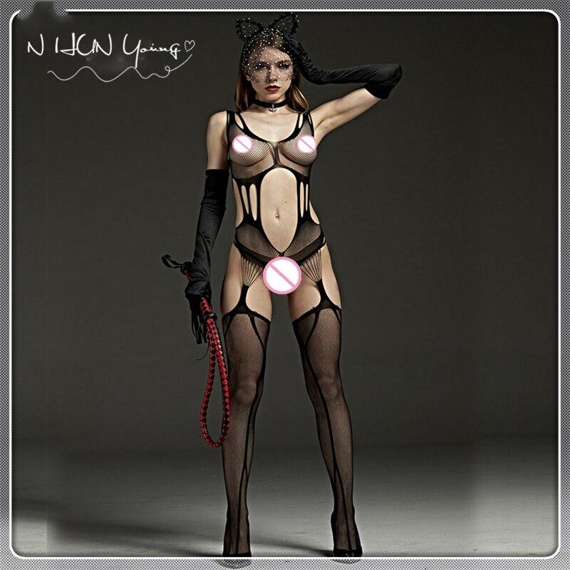 Sexy Lingerie Hot Erotic Bodystocking Plus Size Bodysuits Sexy Body Costumes Women...