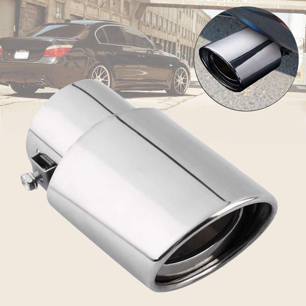 Универсальная автомобильная задняя выхлопная труба из нержавеющей стали, наконечник глушителя, автомобильная выхлопная система, запасная выхлопная труба