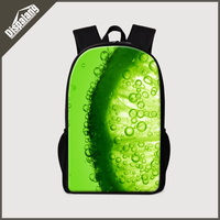Dispalang moda infantil escola bookbags impressão 3d frutas doces back pack para meninas adolescentes bagpack para alunos do ensino primário original