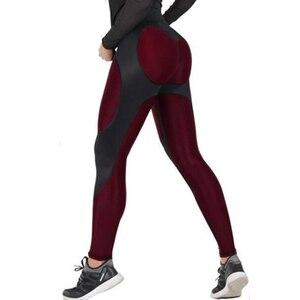 Image 1 - NORMOV Female Legging Women Polyester High Waist Ankle Length Pants Patchwork Push Up Fashion Female Legging Fitness leggins