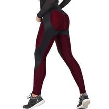 NORMOV Weibliche Legging Frauen Polyester Hohe Taille Ankle Länge Hosen Patchwork Push Up Mode Weibliche Legging Fitness leggins