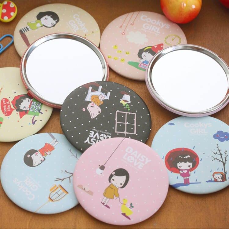 ᑎ Arte Azul Taobao Regalo Lindo Coreano Nina Espejo Chica Dibujos