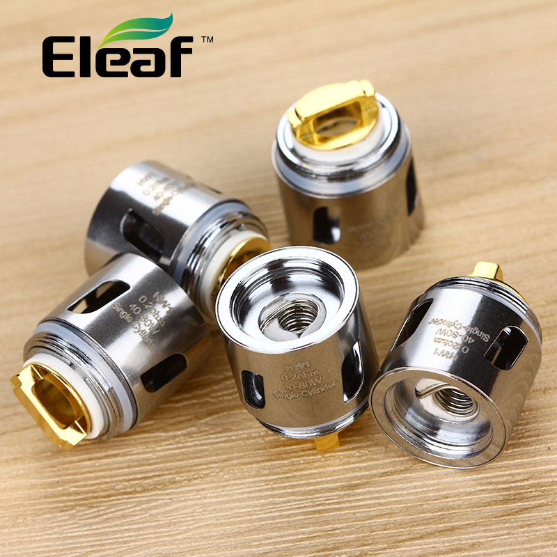 Original 5pcs Eleaf Ello Mini Core 0.2ohm 0.3ohm HW1 Single-Cylinder Head HW2 Dual Coil for Ello Mini/ Ello Mini XL Tank Coil