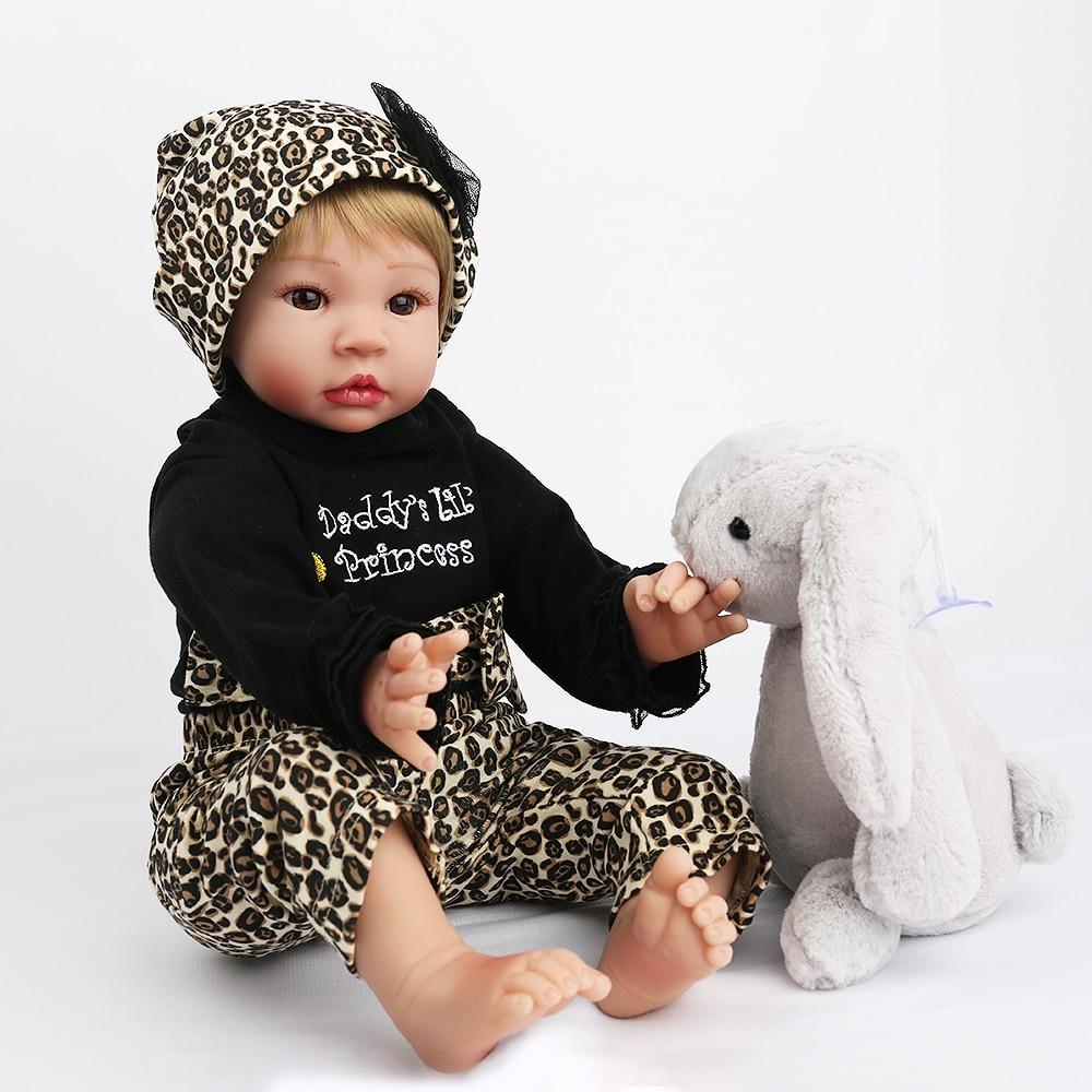 KAYDORA 55 cm Reborn bébé poupées enfant en bas âge Silicone corps costume réaliste poupée jouet baignable Reborn jouets populaires enfants jouets