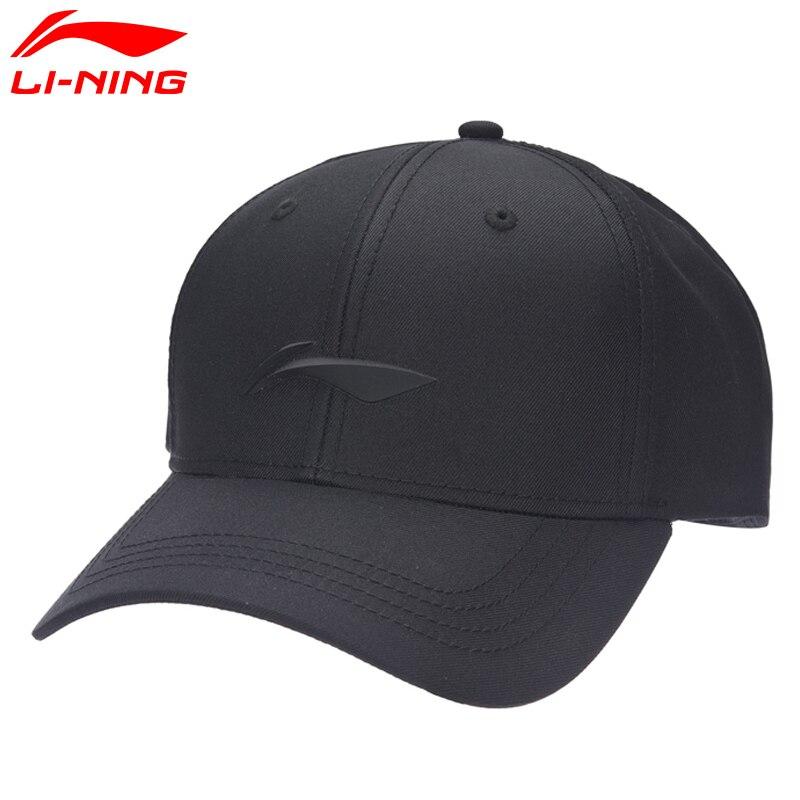 Li-Ning Unisex Running Caps Polyester Solid Baseball Cap Sunshade LiNing Li Ning Sports Caps AMYM104 PMS083