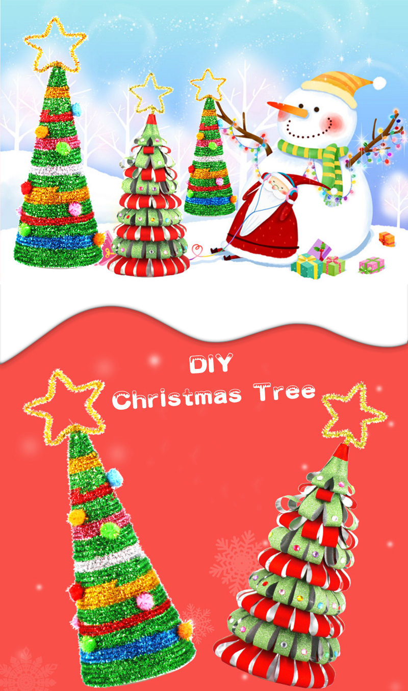 Christmas Tree Toys Handmade.Diy Christmas Tree Handmade Material Pack Children S Educational Toys Christmas Gifts Kids Art And Craft For Children Craft Toys