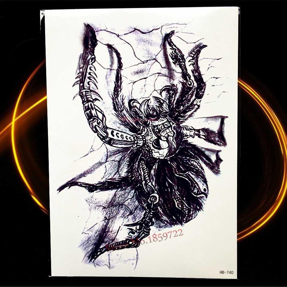 Временные тату с изображением Божьей совы, наклейки с арабскими лунами, тотем, ислам, татуировки для женщин, водостойкие хны, тату, цвет воды