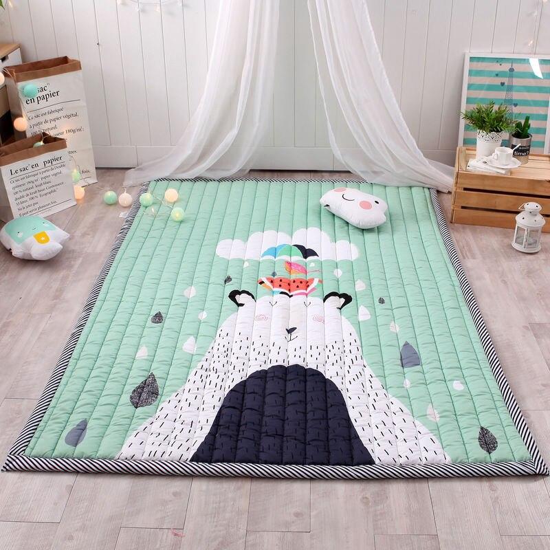 Grand tapis de jeu de bébé doux de bande dessinée enfants tapis tapis enfants chambre tapis de sol garçon fille tapis de jeu tapis d'activité de bébé pour les enfants - 3