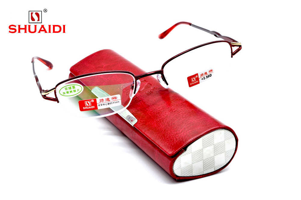 =CLARA VIDA= WOMEN LADY SUPER HIGH QUALITY ASPERICAL COATED TITANIUM QUEEN READING GLASSES +1.0 +1.5 +2.0 +2.5 +3.0 +3.5+4.0