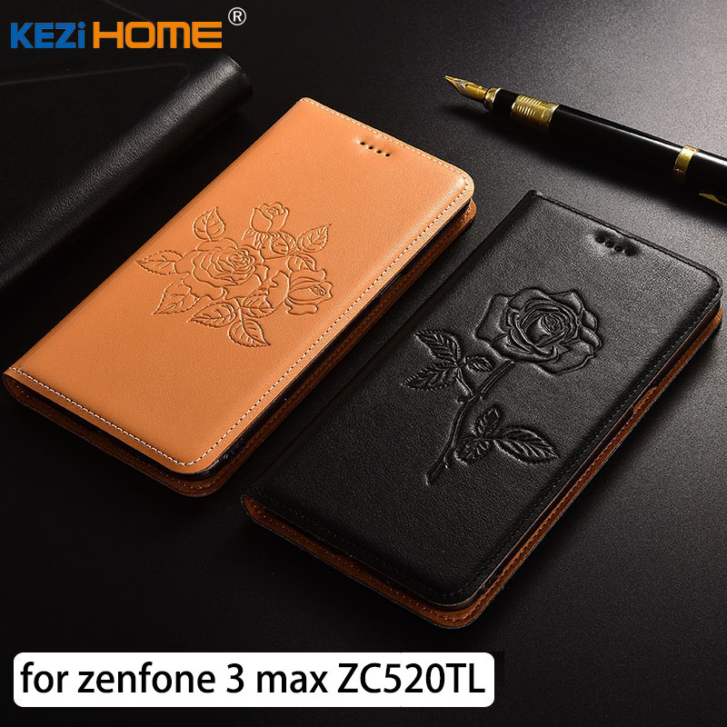 for <font><b>Asus</b></font> Zenfone 3 Max ZC520TL case Flip embossed genuine leather soft TPU back cover for <font><b>Asus</b></font> ZC520TL <font><b>X008D</b></font> <font><b>coque</b></font> image