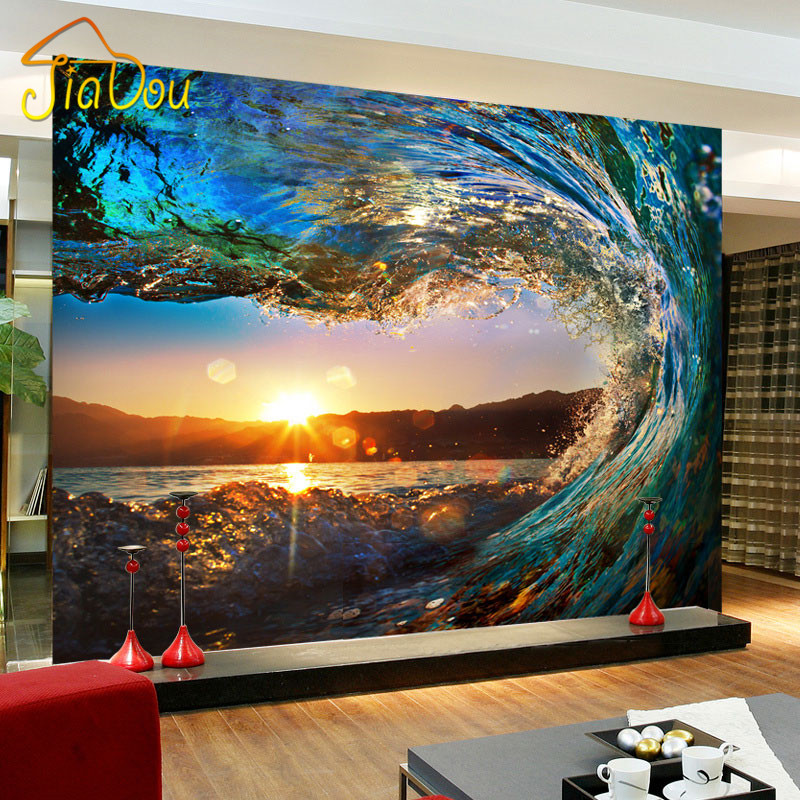 Custom Photo Wallpaper Modern Large Mural Living Room Sofa Backdrop Wall Paper 3D Stereoscopic Non-woven Wallpaper Sunset Rhine custom 3d photo wallpaper natural mural waterfalls pastoral style 3d non woven straw paper wall papers living room sofa backdrop