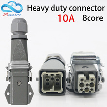 Heavy-duty connector 8 (7+ 1) core HA-008-3 air plug horizontal cold pressure hot channel flow waterproofing