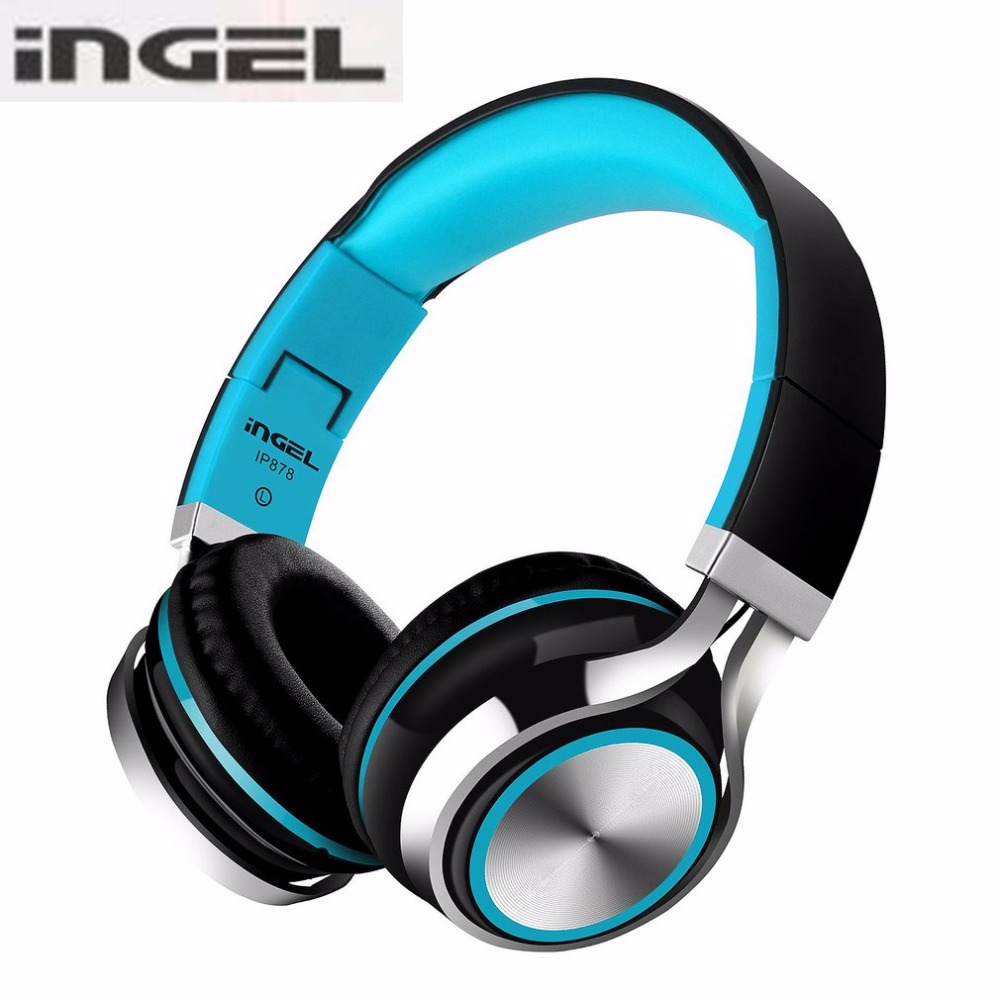 INGEL Foldable On-Ear Headphone 3.5MM Stereo Sound Bass Headset Gaming Headphones For PC Gamer With Mic For Xiomi PC Smartphone high quality sound effect gaming headset with led light over ear glowing stereo headphones with mic for computer pc laptop gamer